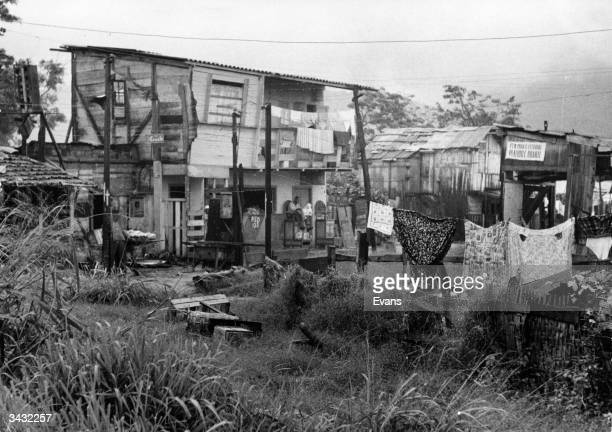 A typical shack in Rio in one of the slum areas or favelas occupied by about one third of Rio's population