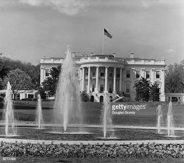 A view of the South Portico of the White House official residence of the president of the United States in Washington DC