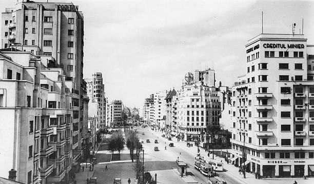 A view of The Takionescu Boulevard in Bucharest which...