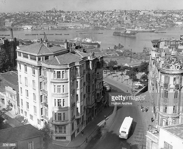 A view of the Turkish city of Istanbul once capital of the Ottoman Empire It straddles the Golden Horn and the Bosphorus Straits and is built on two...