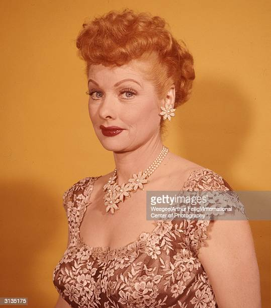 American actress and producer Lucille Ball best known for her starring role in the hit 50s sitcom 'I Love Lucy' Photo by Weegee/International Center...