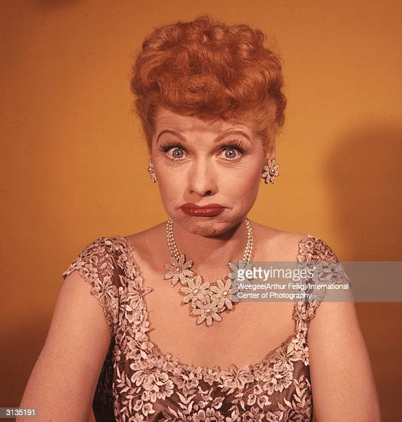 American actress and producer Lucille Ball , best known for her starring role in the hit 50s sitcom 'I Love Lucy'.