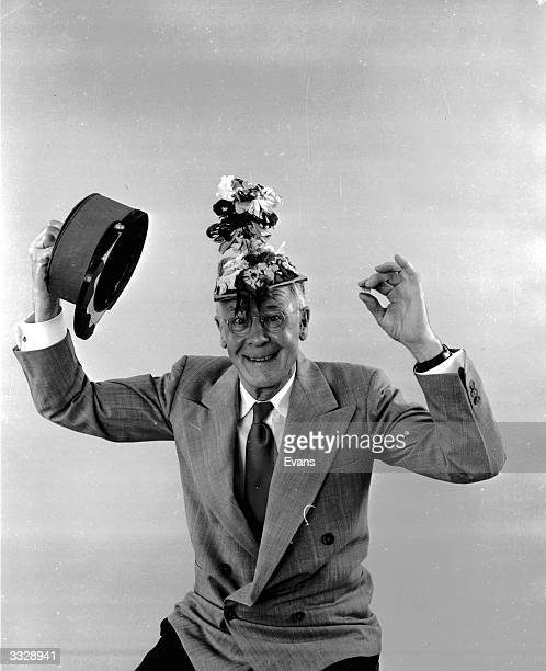 American amateur inventor Russell E Oakes wearing his militarymillinery hat Devised for ladies in military service the regulation military hat has...