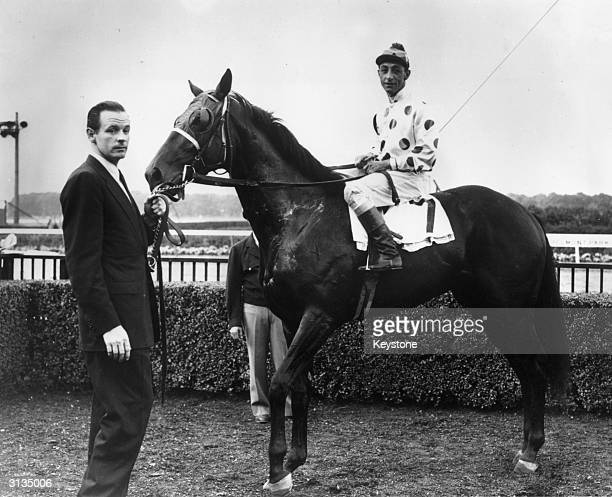 American high society millionaire and race horse owner William Woodward Junior with one of his racehorses 'Noshua' Woodward was shot and killed by...