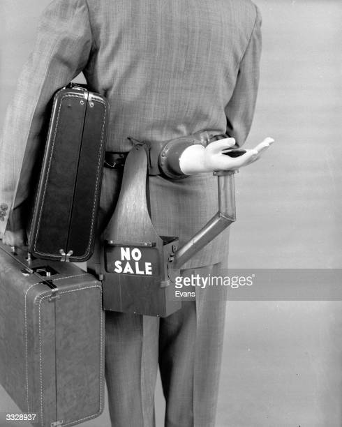 An automatic tip requester for use by hotel bellhops Devised by amateur inventor Russell E Oakes it comprises an artificial hand and cashbox and can...
