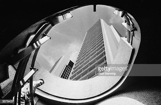 An high rise aparment building in Caracas Venezuela from a stairwell