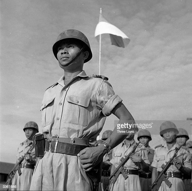 An Indonesian army officer