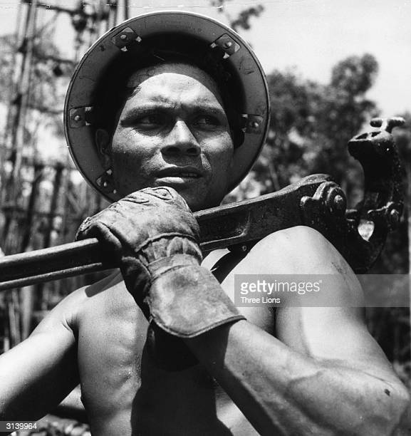 An Indonesian oil worker