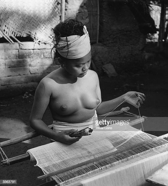 Balinese looms are small and portable and out of necessity weaving is a fairly universal skill