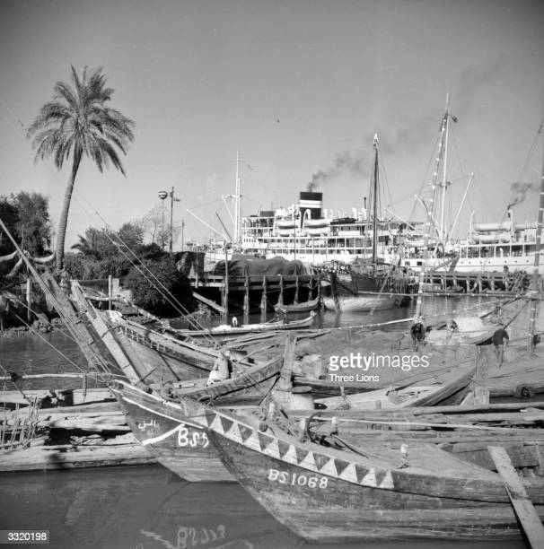 Basra, Iraq, an important and busy harbour in the Persian Gulf.