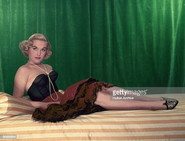 British actress Shirley Eaton best known for her role as the goldpainted Bond girl in 'Goldfinger'
