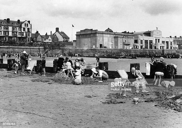 Children on the sands at Bridlington.