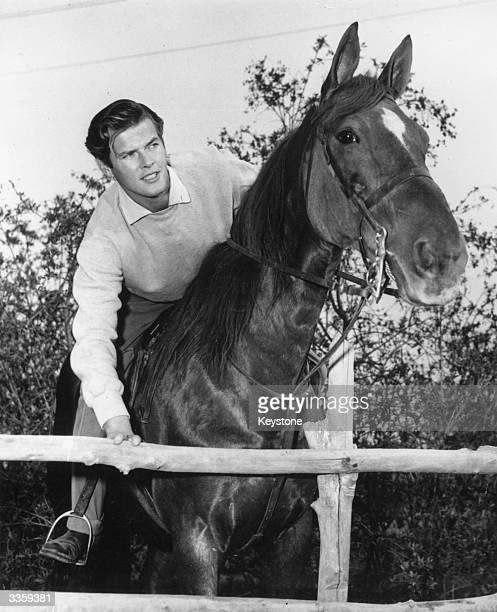 English actor Roger Moore heads off on his morning ride in Hollywood