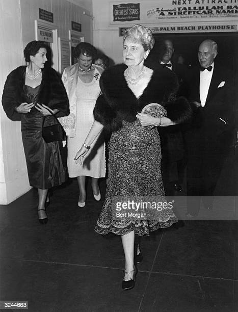 EXCLUSIVE American business executive and philanthropist Marjorie Merriweather Post attends a production of playwright Tennessee Williams's play 'A...