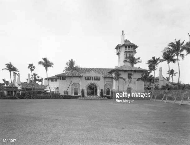 EXCLUSIVE Exterior view of 'MaraLago' residence of Marjorie Merriweather Post 1100 South Ocean Boulevard Palm Beach Florida Designed by Marion Sims...