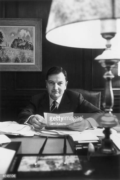 Financier David Rockefeller president of the Chase Manhattan Bank