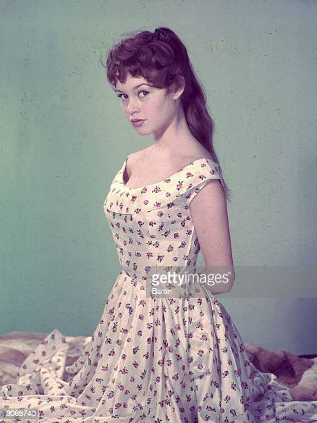 French actress Brigitte Bardot, sultry star of 'Et Dieu Crea La Femme' .