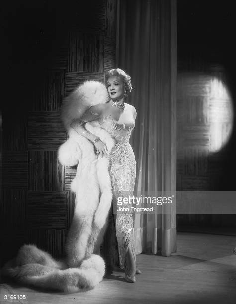 German-born actress Marlene Dietrich swathed in furs.