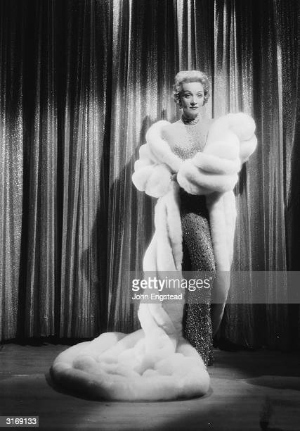 Germanborn actress Marlene Dietrich swathed in furs She was discovered in Berlin by Josef von Sternberg and introduced to Hollywood in 1930 with the...