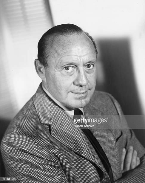 Headshot portrait of American actor and comedian Jack Benny