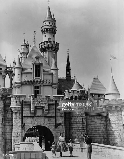 Holidaymakers in Disneyland in California