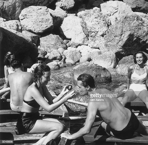 Holidaymakers on the Italian island of Capri.
