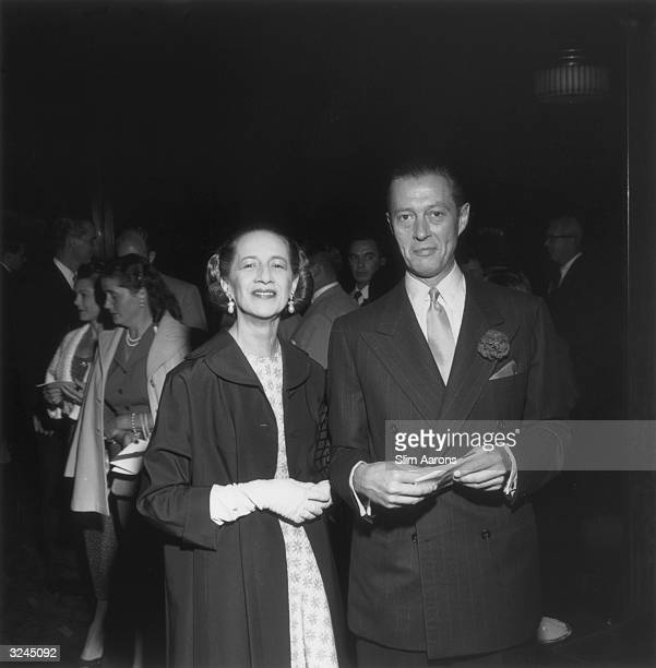 Journalist Diana Vreeland who worked as a fashion editor on Harper's Bazaar and Vogue with her banker husband Reed Vreeland
