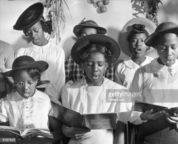 Junior choir singers at the Commandment Keepers Congregation church in Harlem, New York.