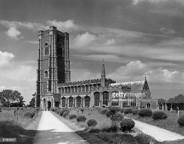 Lavenham church in Suffolk Built in the fifteenth century it is one of the finest knapped flint churches in the country