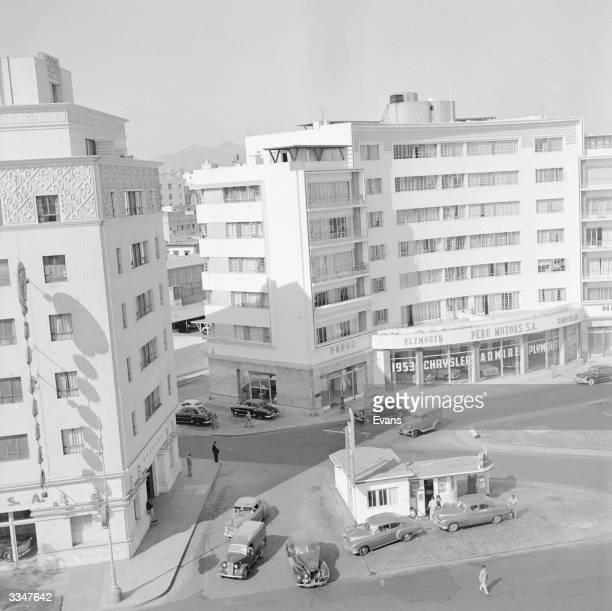 Modern apartment blocks in Lima.