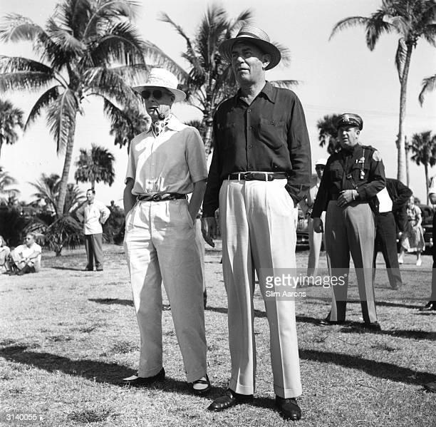 On the left, the Duke of Windsor at the Seminole Golf Club, Palm Beach.