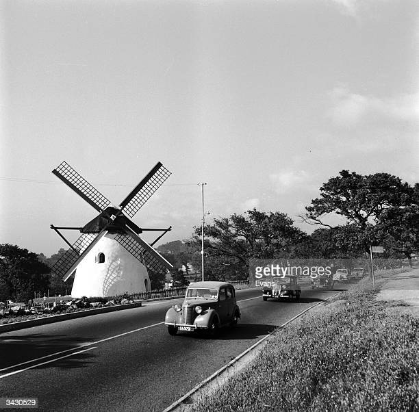 One of the few remaining old Dutch windmills on the highway between Llandudno and Bakoven