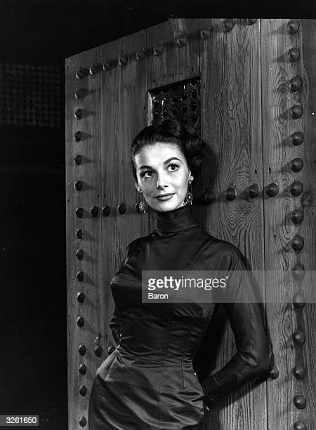 Pier Angeli the film starlet on the set of 'Port Afrique' at MGM's studios