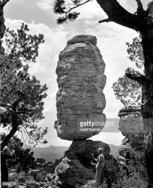 Pinnacle Balanced Rock formation in Chiricahua National Monument Arizona
