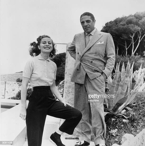 Shipping magnate Aristotle Socrates Onassis and his first wife Athina Livanos