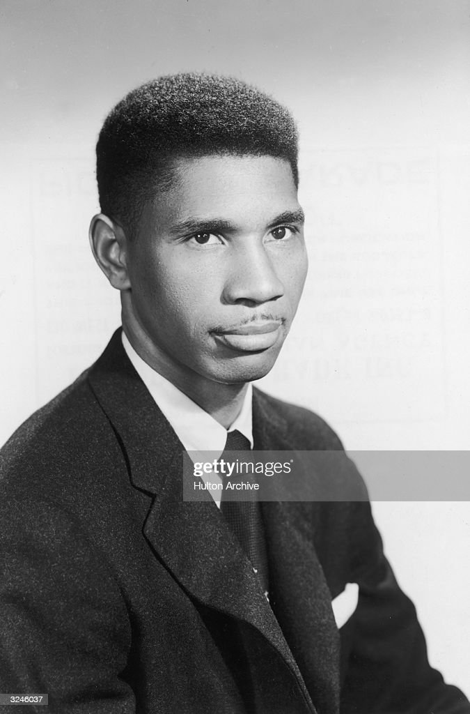 Studio portrait of American civil rights activist Medgar W Evers (1925 - 1963) who was assassinated in Jackson, Mississippi.