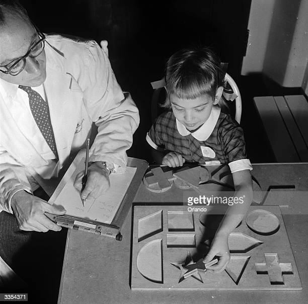The Form Board test is cored for time and error A child must place the blocks in the correct holes as a test of form perception and understanding of...