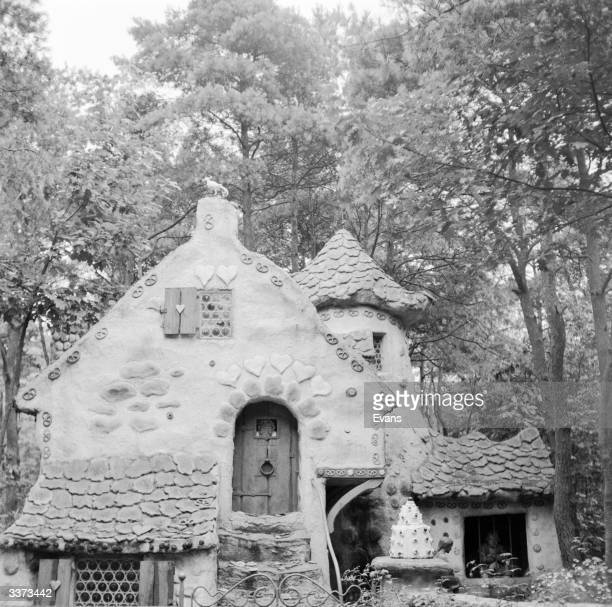 The Gingerbread House where the old witch lives in the tale of Hansel and Gretel