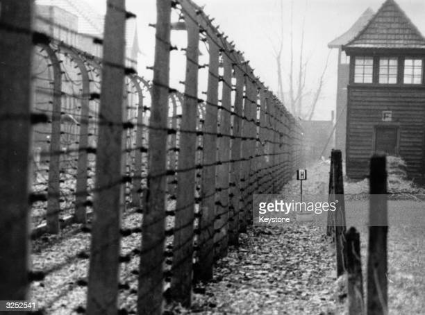 The perimeter fence of the Nazi concentration camp at Auschwitz.