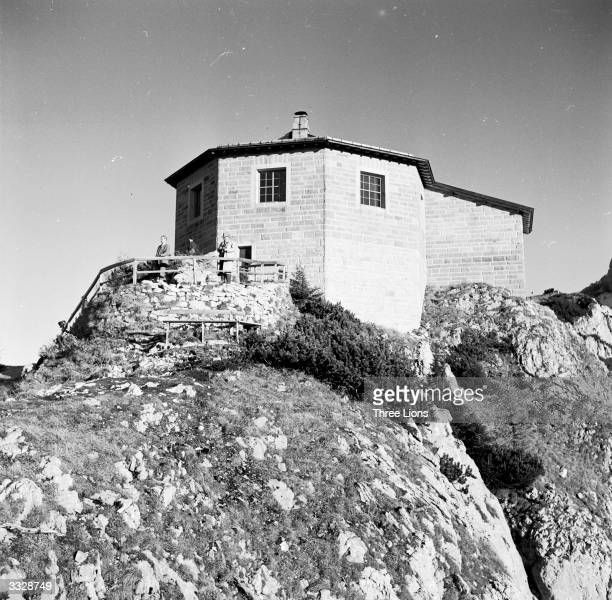 The Tea House at Kehlstein Mountain in the Bavarian Alps once used by the Fuhrer is now a restaurant This was Adolf Hitler's mountain retreat during...