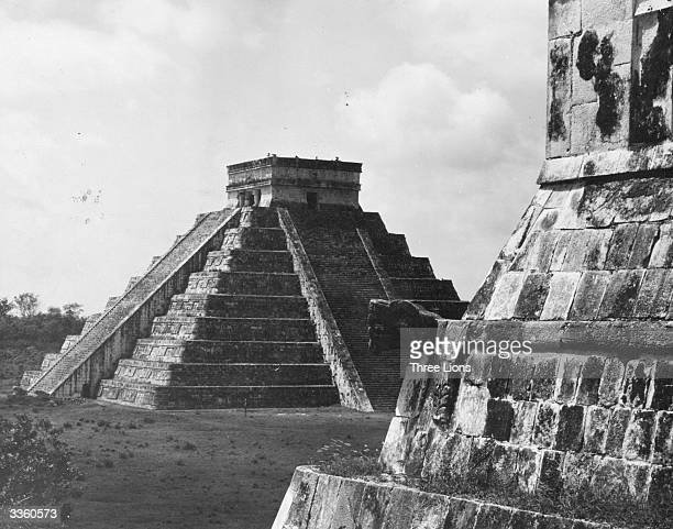 The Temple of Kukulcan the Mayan god of rain at Chichen Itza near Valladolid