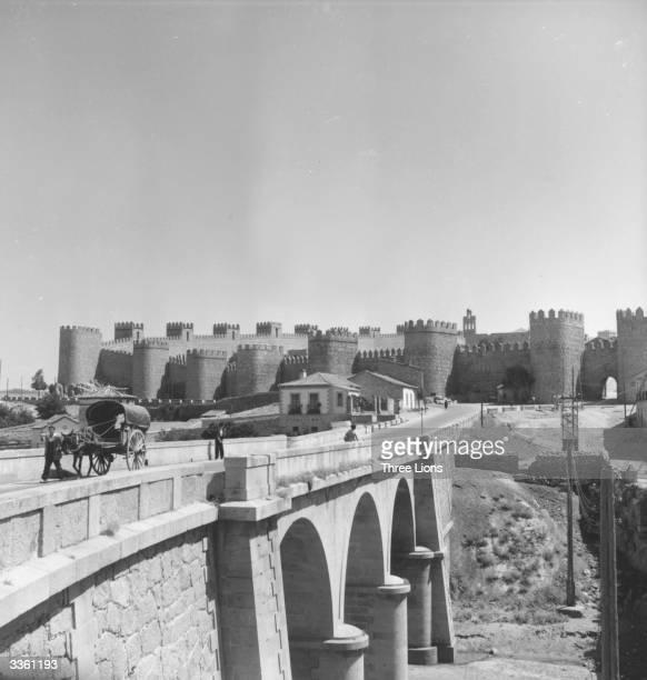 The wall around Avila in Castile Spain