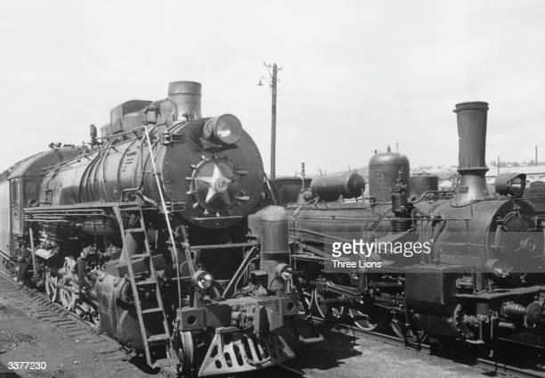 Two steam locomotive trains that travel from Vladivostok to Sloubliana on the TransSiberian railroad line