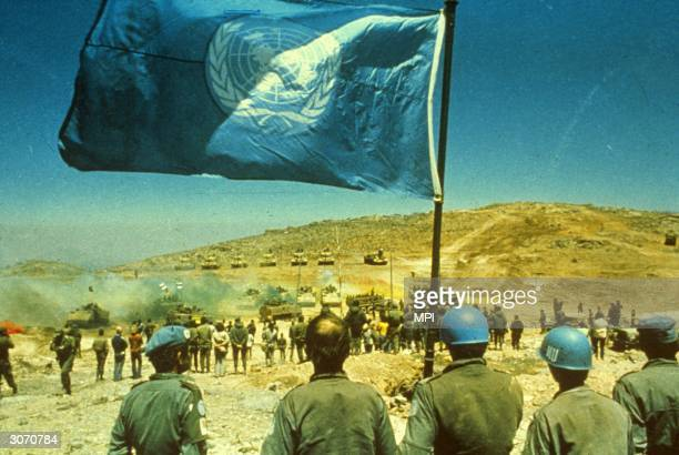 United Nations peacekeepers in the middle east.