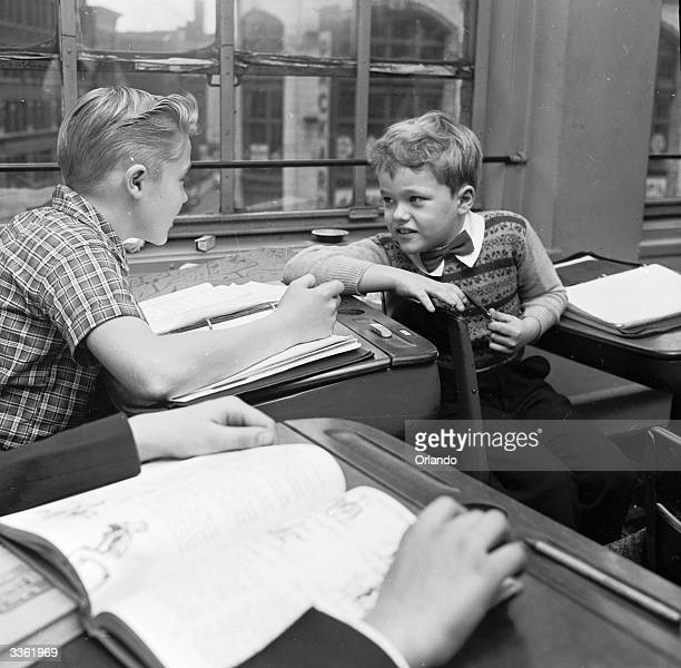Young television star Glenn Walken at the Professional Children's School for children in theatrical work