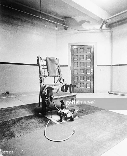 A well used electric chair inside Sing Sing prison New York