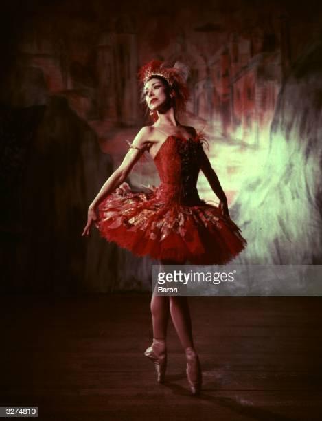 English ballerina Margot Fonteyn formerly Margaret Hookham performs in the ballet 'The Firebird'