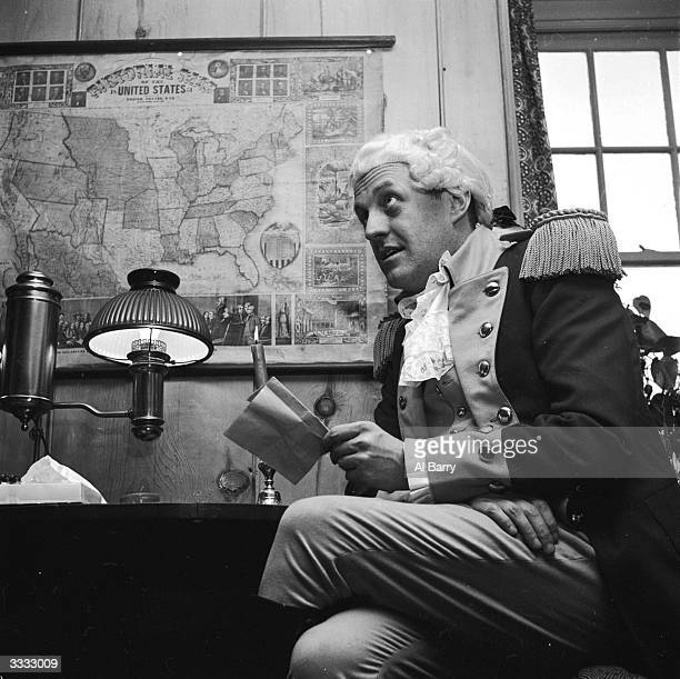 John Terrell plays George Washington in a reenactment of the American War of Independence performed in Lambertville New Jersey Here Washington...