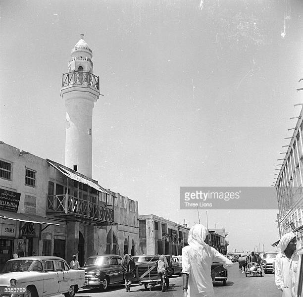The main thoroughfare of Manama the capital of the independent sheikdom of Bahrein