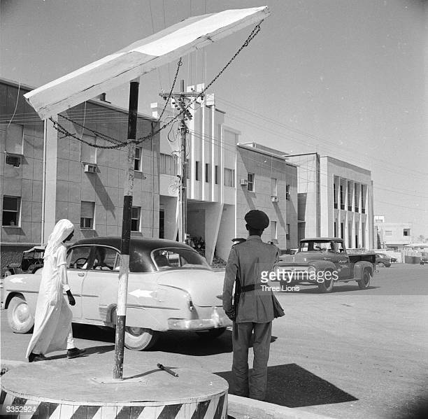 The police headquarters in the Saudi Arabian capital of Riyadh The telegraph pole by the entrance serves as the gallows for the regular Friday...